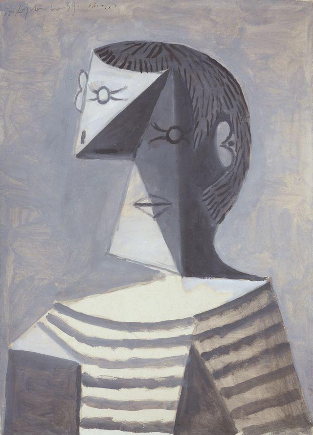 Pablo Picasso, Uomo con maglia a righe, 1939