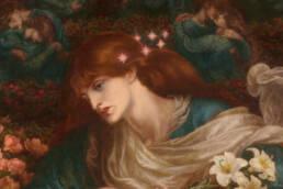 Dante Gabriel Rossetti, The Blessed Damozel, dettaglio, 1871-1878