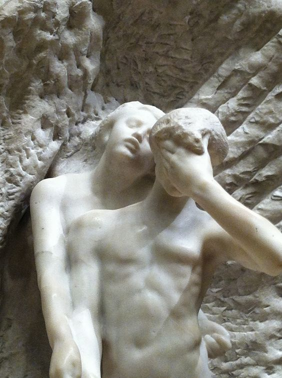 François-Auguste-René Rodin, Orfeo ed Euridice, dettaglio, 1893