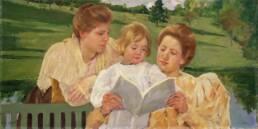 Mary Cassatt, Gruppo di famiglia che legge, 1898