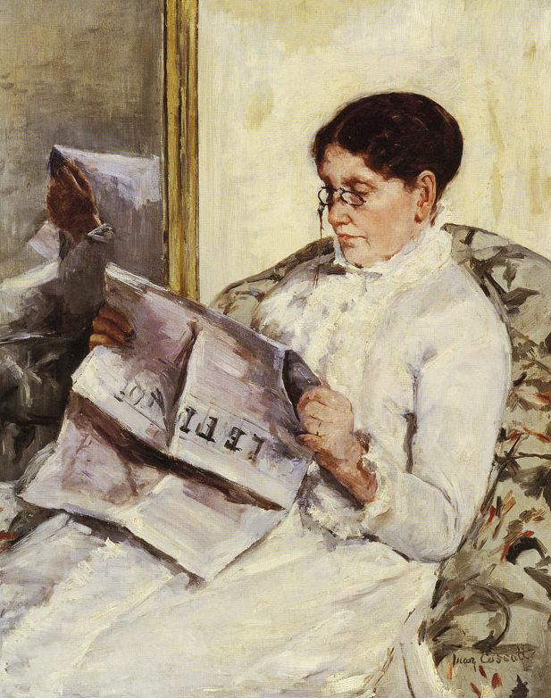 Mary Cassatt, La madre dell'artista che legge Le Figaro, 1877-1878