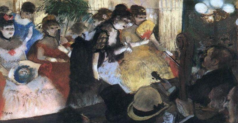 Edgar Degas, Cabaret, 1875-1877