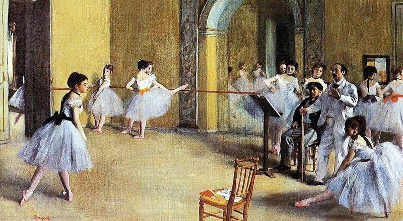 Edgar Degas, Foyer di danza all'Opéra, 1872, dettaglio