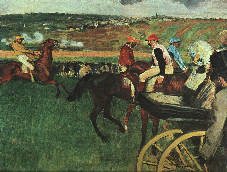 Edgar Degas, Il campo da corsa, 1874-1877