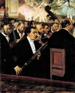 Edgar Degas, L'orchestra dell'Opéra, 1870