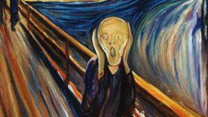 Edvard Munch, L'urlo, dettaglio, 1893