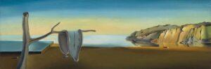 Salvador Dalí, La persistenza della memoria 1931, dettaglio del paesaggio