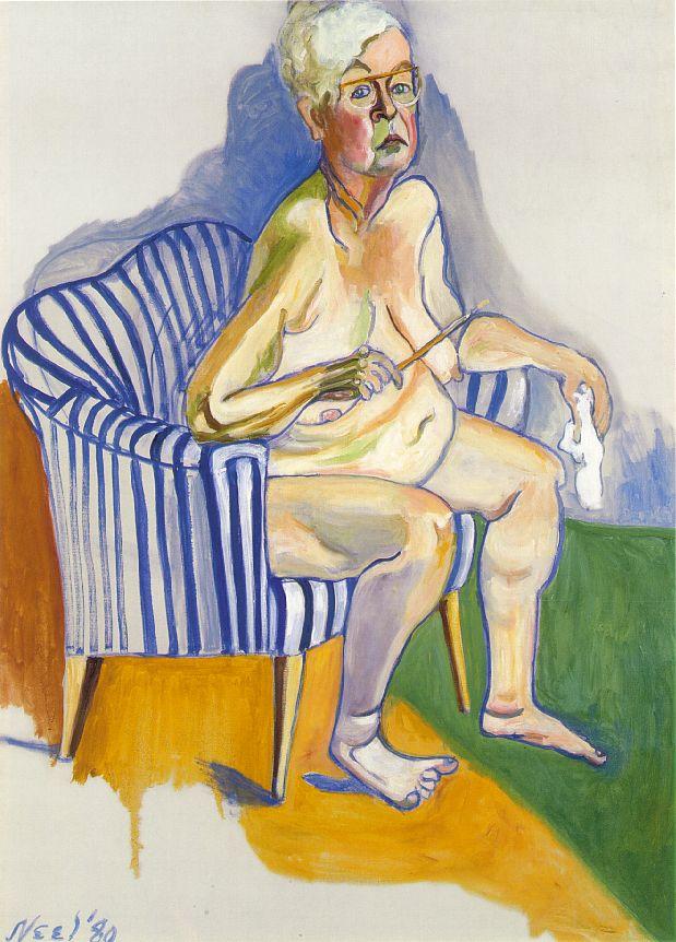Alice Neel, Autoritratto, 1980