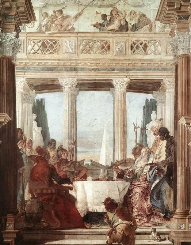 Giambattista Tiepolo, Il banchetto di Cleopatra, dettaglio, 1747, Salone da Ballo di Palazzo Labia