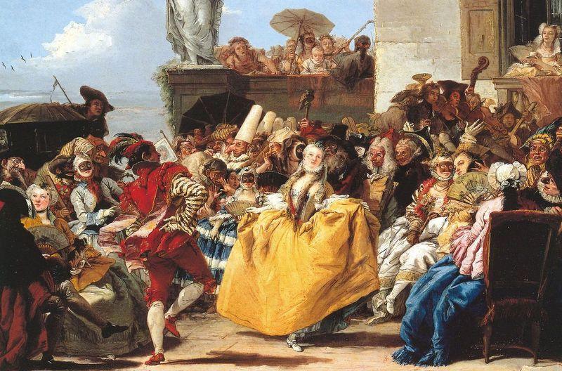Giandomenico Tiepolo, Il minuetto, dettaglio, XVIII secolo